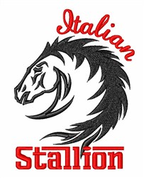 Mustang Stallion Horse Head embroidery design