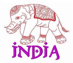 Indian Elephant embroidery design