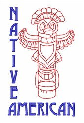 Native Alaskan Totem Pole embroidery design