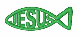 Ichthys Symbol embroidery design