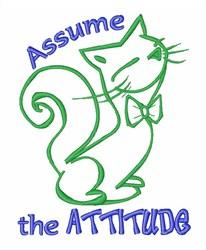 Attitude Cat embroidery design