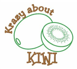 Krazy About Kiwi embroidery design