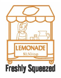 Freshly Squeezed Lemonade embroidery design