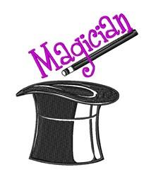 Magician Hat Abracadabra embroidery design