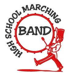 Marching Band Drums embroidery design