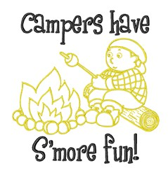 Camper S 'more Toasted embroidery design