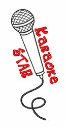 Karaoke Star embroidery design
