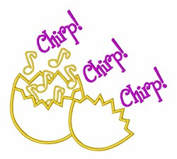 Music Notes Chirp! embroidery design