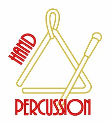 Hand Percussion Triangle embroidery design
