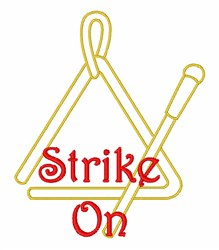 Strike On Triangle embroidery design