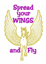 Pegasus Spread Wings embroidery design