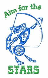 Native American Archer embroidery design