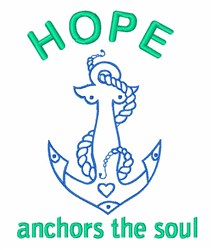 Ship Anchor Hope Soul embroidery design