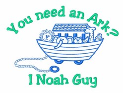 Noah's Ark Animal Lover embroidery design
