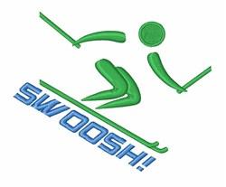 Swoosh Skiing embroidery design