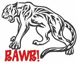 Panther Wild Cat embroidery design