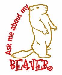 Beaver Pride embroidery design