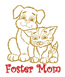 Resuced Pets embroidery design