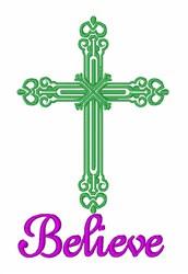 Believe In Jesus embroidery design