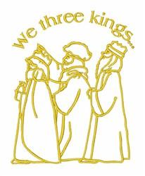 Three Kings Religious embroidery design