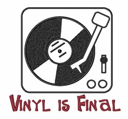 Vinyl Music Old School embroidery design