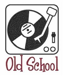 Vinyl Music Old School embroidery design