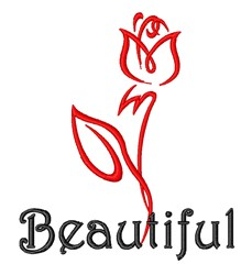 Beautiful Red Rose embroidery design