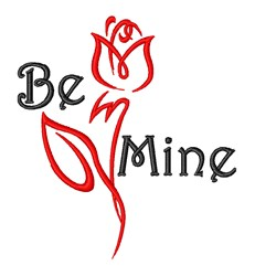 Be Mine Valentine embroidery design