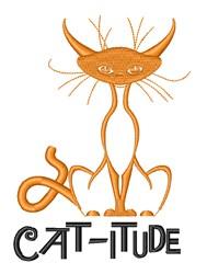 Attitude Cat Animal embroidery design
