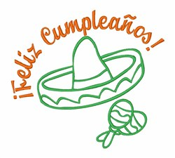 Mexican Birthday Wishes embroidery design