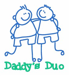 Daddys Duo Twins embroidery design