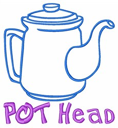 Coffee Pot Drink embroidery design