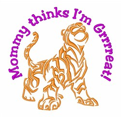 Cat Lover Tiger Wildlife embroidery design