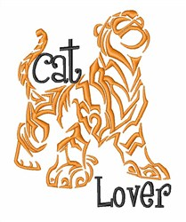 Cat Lover Tiger embroidery design
