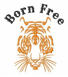 Born Free Tiger embroidery design