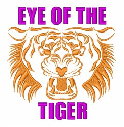 Eye Of The Tiger embroidery design