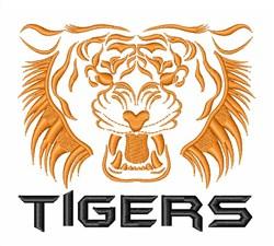Tiger Eyes Wildlife embroidery design