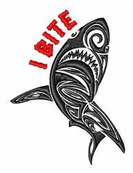Shark Hunter Bite embroidery design