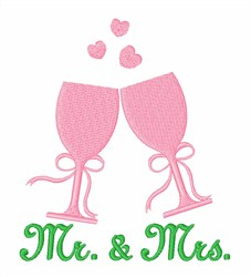 Introducing Mr. & Mrs embroidery design