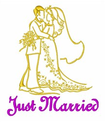 Married Couple embroidery design