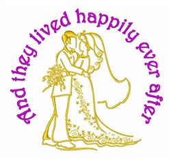 Live Happily Ever After embroidery design