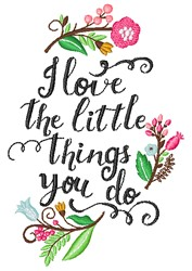 The Little Things embroidery design