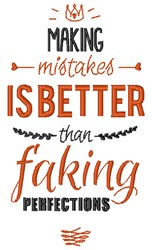 Making Mistakes embroidery design