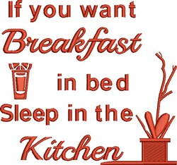 Want Breakfast embroidery design