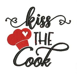 Kiss The Cook embroidery design