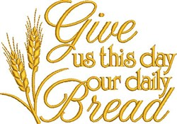 Daily Bread embroidery design