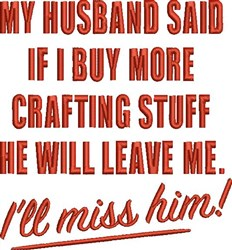 Buy Crafting Stuff embroidery design