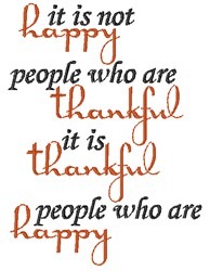 Thankful Happy embroidery design