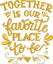 Our Favorite Place embroidery design