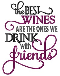 Drink With Friends embroidery design